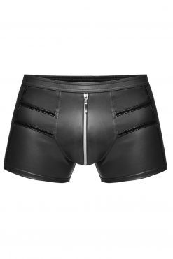 Kurze Shorts Schwarz Wetlook