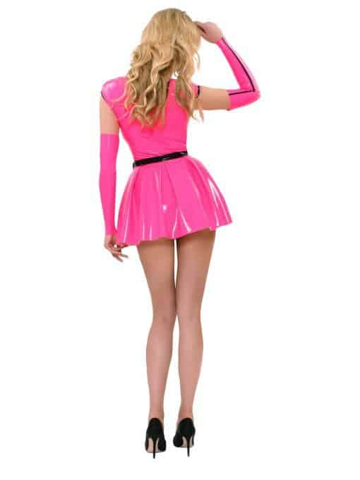 Datex Minikleid mit Armstulpen in Pink - Guilty Pleasure
